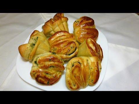 Чесночные булочки с зеленью \ rolls with greens and garlic