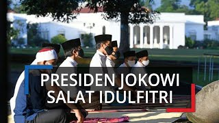 Potret Presiden Jokowi saat Salat Ied Berjamaah di Halaman Istana Bogor