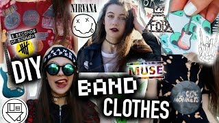 DIY BAND Clothes: No Sew T-shirts, Beanie, Dress, and Merch!
