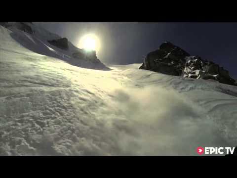 Daredevil Skier Rides An Avalanche, Flies Off A Cliff