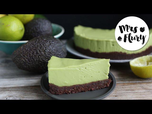 Avocado cheesecake vegan, gluten-free, without sugar | No-bake recipe | Mrs. Flury