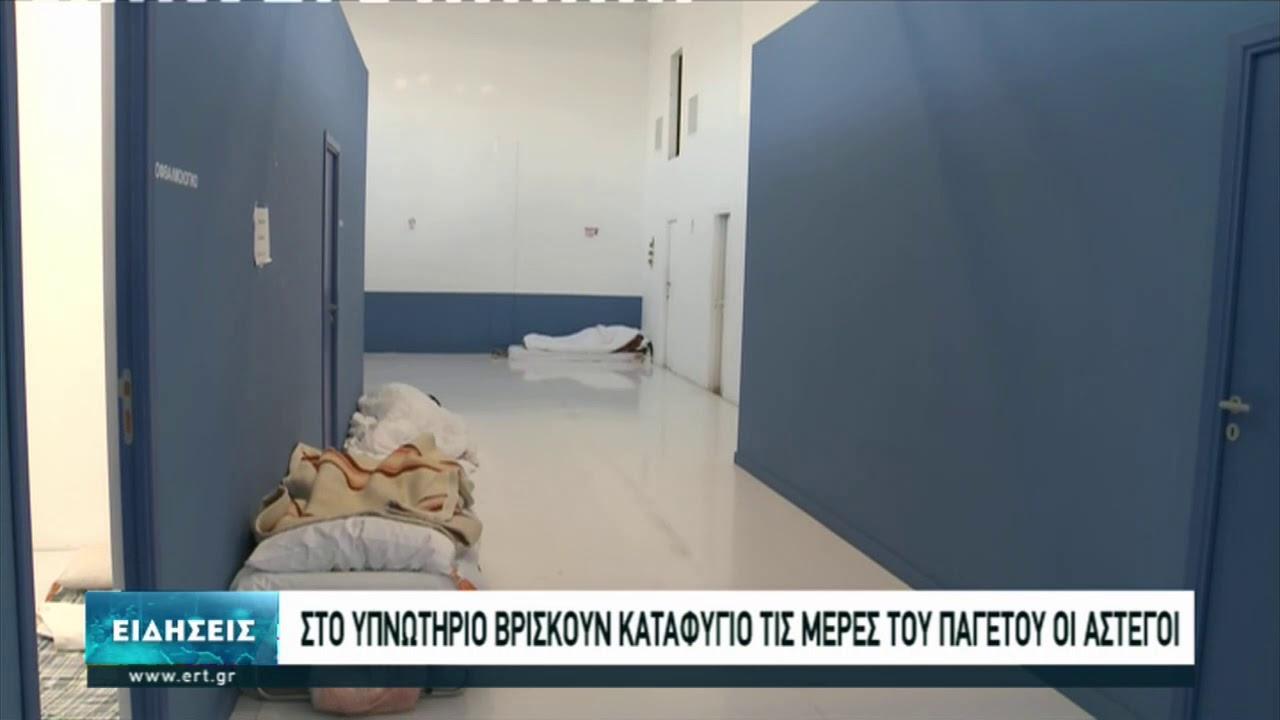 Καταφύγιο από το κρύο αναζητούν οι άστεγοι σε χώρο της ΔΕΘ | 17/01/2021 | ΕΡΤ