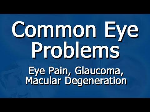 Video Symptoms Of Eye Problems -  Eye Pain, Cataracts, Pink Eye, Glaucoma, Macular Degeneration