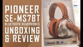 Pioneer SE-MS7BT Bluetooth Headphones Unboxing & Review