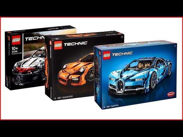 Compilation Lego Technic Cars 42096 Porsche 42083 Bugatti Chiron