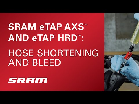SRAM RED® eTap® HRD: Hose Shortening and Bleed