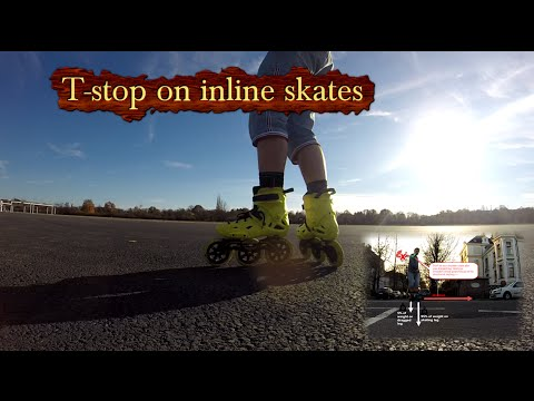 How to T-stop on inline skates.