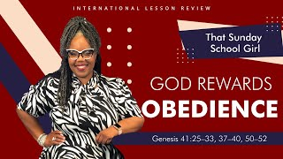 📚🙌🏾❤️Sunday School Lesson: God Rewards Obedience - September 13, 2020