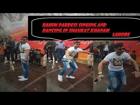 RAHIM PARDESI dancing and singing on an event in lahore