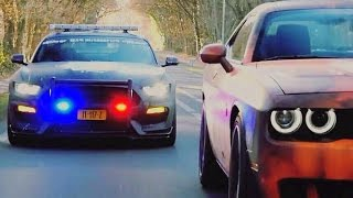 Street Racers VS Police FAIL & WIN BEST COMPILATION 2017 🚔
