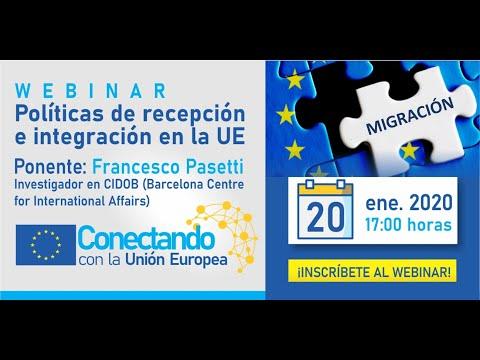 Webinar: Políticas de recepción e integración en la Unión Europea
