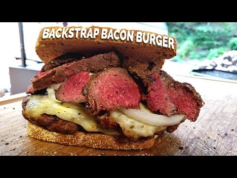 Bacon Backstrap Burgers