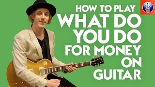 How to Play What Do You Do for Money on Guitar - AC DC Back in Black Lesson