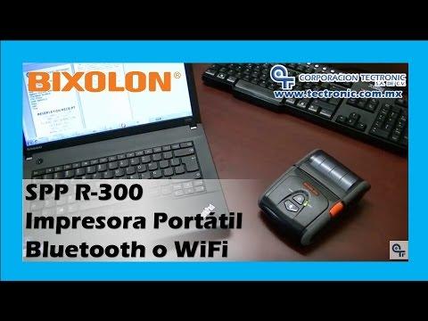 Impresora Portátil para Laptop Bluetooth o WiFi :: Bixolon SPP-R300