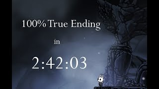 Hollow Knight 100% True Ending NMG Speedrun - 2:42:03 loadless [WR]