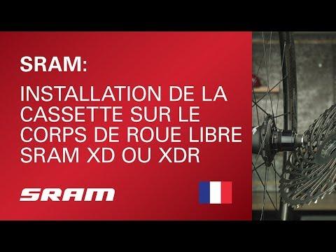 Installation de la cassette sur le corps de roue libre SRAM XD ou XDR