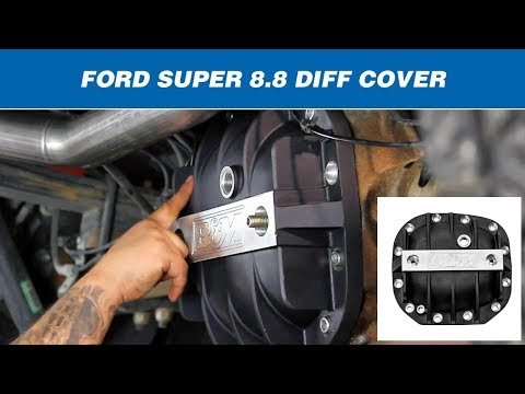 Install: B&M Hi-Tek Aluminum Differential Cover  41296 - Ford Super 8.8