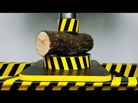 EXPERIMENT HYDRAULIC PRESS 100 TON vs WOOD