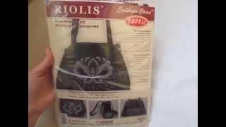 Обзор набора для вышивки Риолис 1441 АС - черная сумка