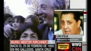 C5N MURIO NESTOR KIRCHNER HABLA LUIS DELIA