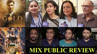 Gold & Satyameva Jayate Mix PUBLIC Review I Akshay Kumar, Mouni Roy, John Abraham, Manoj Bajpayee