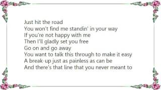 Chely Wright - Go on and Go Lyrics
