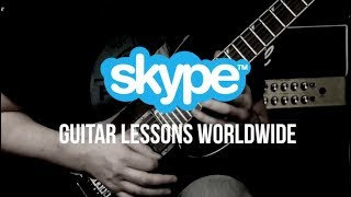 Skype Guitar Lessons  - Rock, Metal And Blues Guitar Lessons