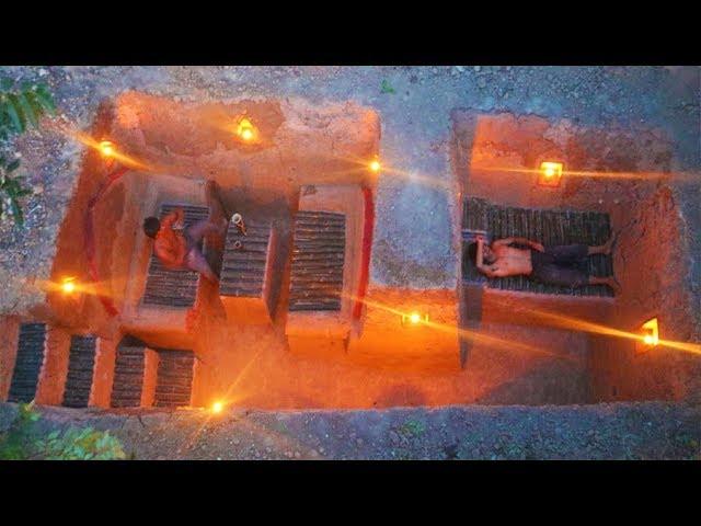 Build the Most amazing Secret ancient underground deep pool with secret Underground Tunnel House
