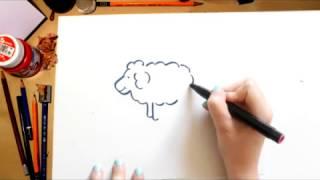 Como desenhar uma Ovelha - desenhos para crianças