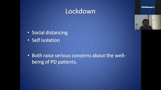 Understanding Parkinson During Lockdown