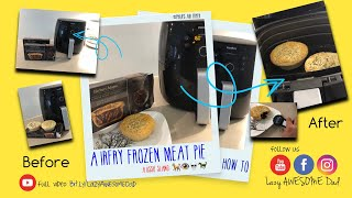 Frozen Australian Meat Pie Airfry In Philips AirFryer - Hot And Flaky Pastry
