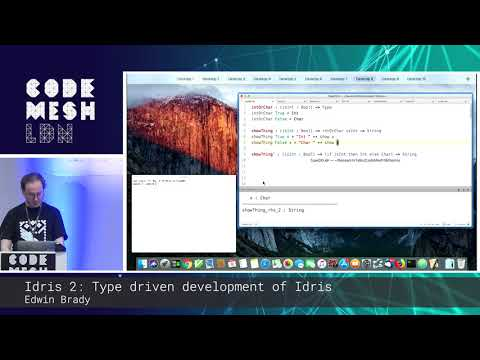Idris 2: Type-driven Development of Idris (Code Mesh LDN 18)