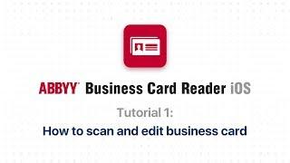 ABBYY Business Card Reader video