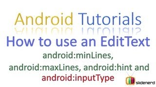 #67 Android Tutorial For Beginners: How to use EditText with Validation [HD 1080p]