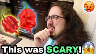 THEY ATE THE WORLD'S HOTTEST PEPPER!! (TWICE)