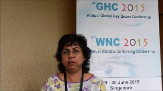 Dr. Manohari Balasingam at GHC Conference 2015 by GSTF Singapore