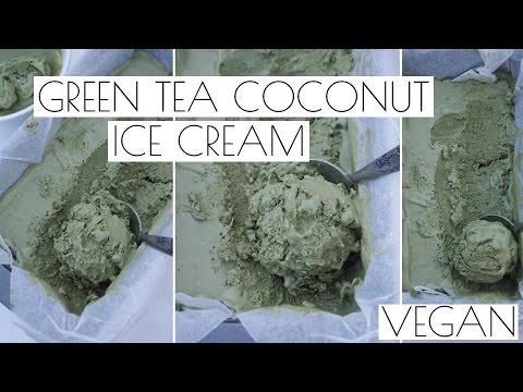 Video MATCHA GREEN TEA COCONUT ICE CREAM | VEGAN RECIPE