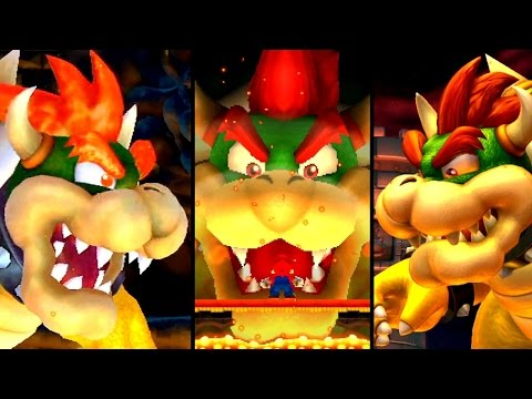 New Super Mario Bros Evolution of GIANT BOWSER BATTLES (DS to Wii U)