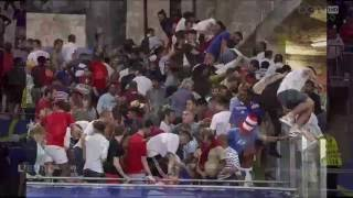 Russian Fans Attack the English at Full Time   Euro 2016 11/06/2016