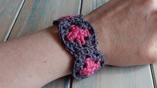 How To Crochet A Mini Granny Square Bracelet