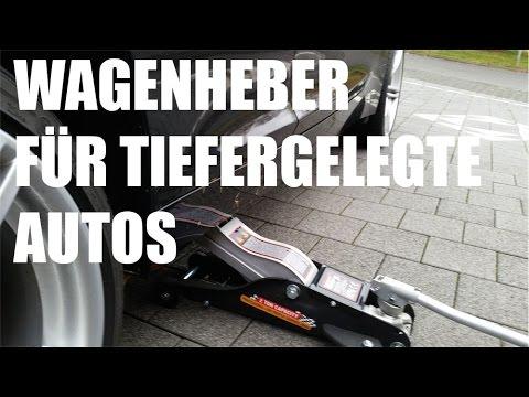 Wagenheber für tiefergelegte Autos - Wagenheber Test für tiefe Fahrzeuge