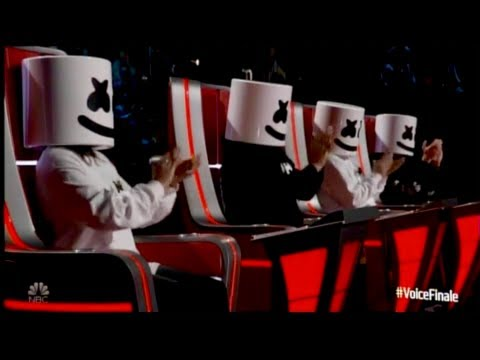 Marshmello and Bastille Perform 'Happier' on The Voice! (видео)