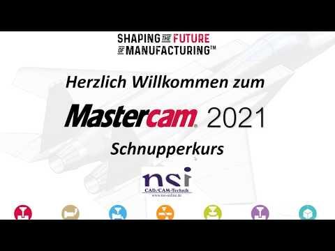 Mastercam 2021 | Schnupperkurs als Web-Video-Training (eLearning)
