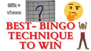 Best -Technique to win Bingo game