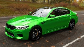 BMW M5 2018 Gameplay Forza Horizon 4. Logitech g29. Free Roam