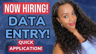 Data Entry Work From Home Job, Apply Fast!