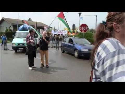 Pacifisti in marcia contro Alenia Aermacchi e Israele