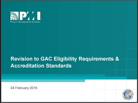 Revision to GAC Eligibility Requirements and Accreditation Standards