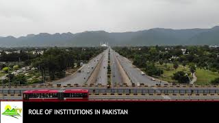 Role of institutions in Pakistan