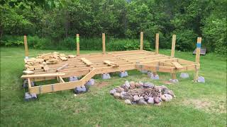 How I Built My Floating Deck On Uneven Ground.